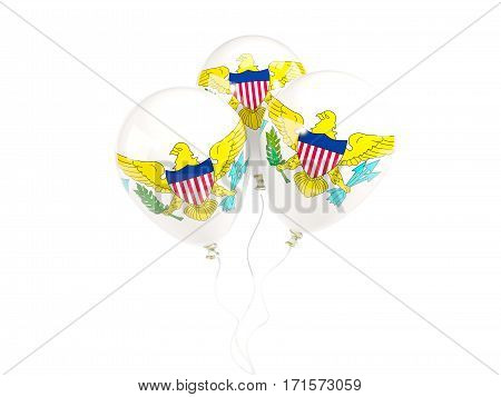 Three Balloons With Flag Of Virgin Islands Us
