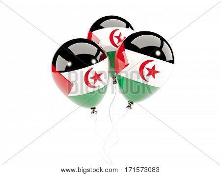 Three Balloons With Flag Of Western Sahara