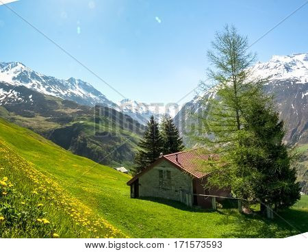 Andermatt, Pastures And Mountains