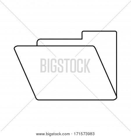 folder file document archive icon thin line vector illustration eps 10