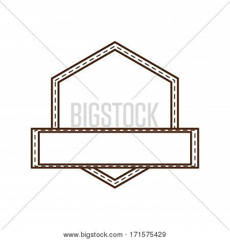 geometric label decorative ribbon vector illustration eps 10
