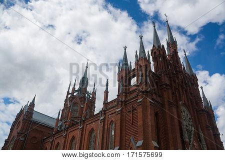 The Cathedral of the Immaculate Conception in Moscow, Russia