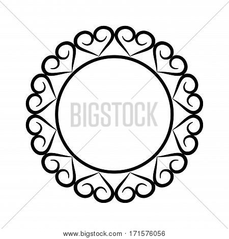 round geometric decorative frame banner vector illustration eps 10