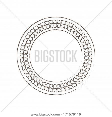 circle decorative frame icon vector illustration eps 10