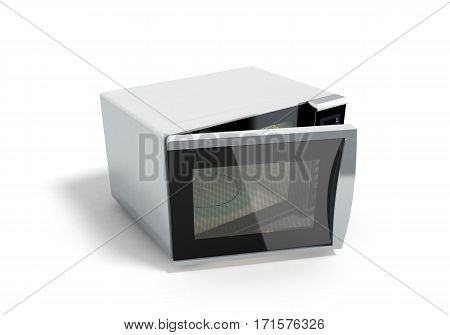 Microwave stove 3d illustration image
