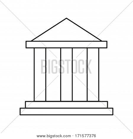 building bank invesment money thin line vector illustration eps 10