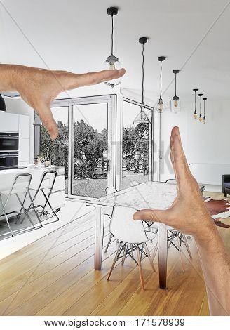 Planned Renovation Of A Open Modern Kitchen