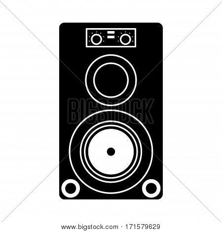 musical speaker audio stereo pictogram vector illustration eps 10