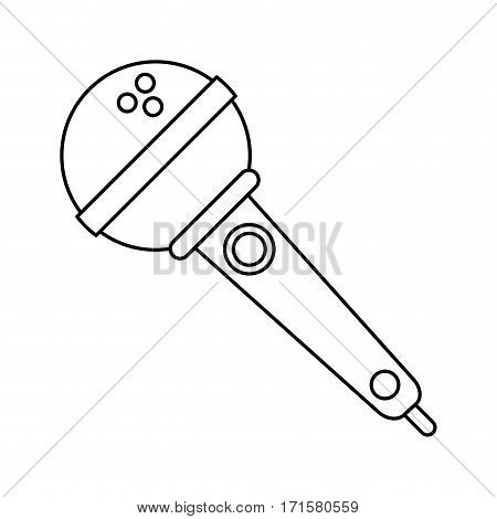 microphone voice audio music thin line vector illustration eps 10