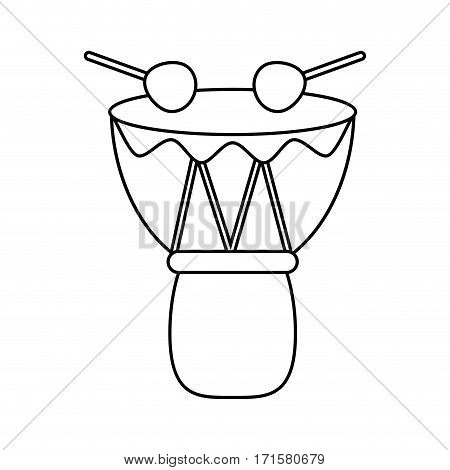 drum djembe percussion african thin line vector illustration eps 10