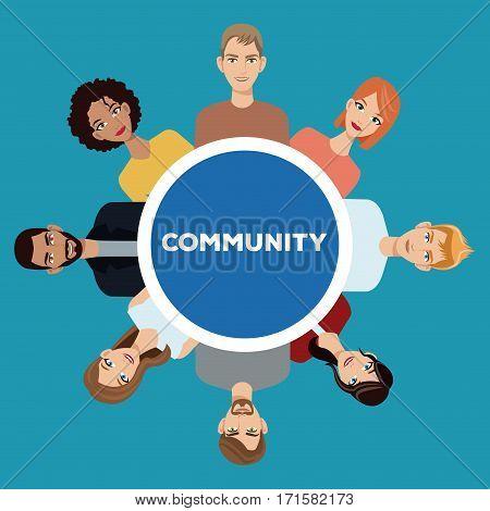 community people society social vector illustration eps 10