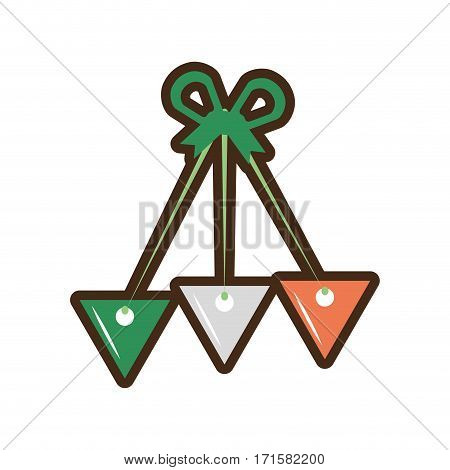 st patricks day pennant decorative vector illustration eps 10