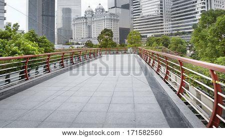 modern city pedestrian overpass