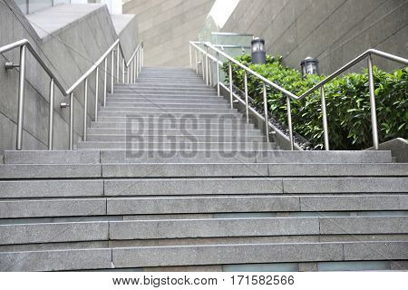 railing and stairs of a modern building