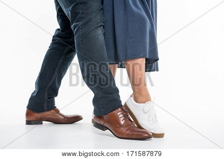 Legs Of Man And Woman