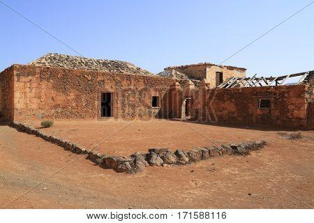 Old Colonial Buildings Casa De Los Coroneles In La Oliva, Fuerteventura