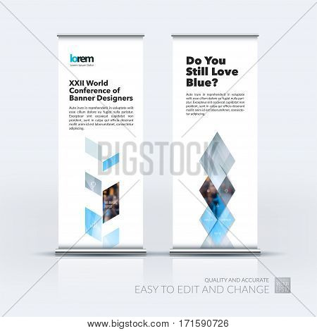 Business vector set of modern roll Up Banner stand design template with grey abstract plant for business, industry, eco for exhibition, show, exposition, expo, presentation, parade, events.