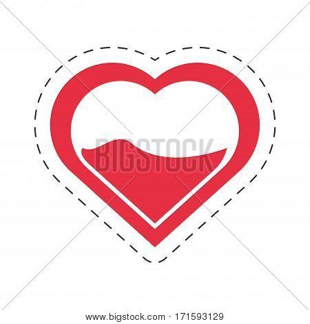 cartoon heart blood donation symbol vector illustration eps 10