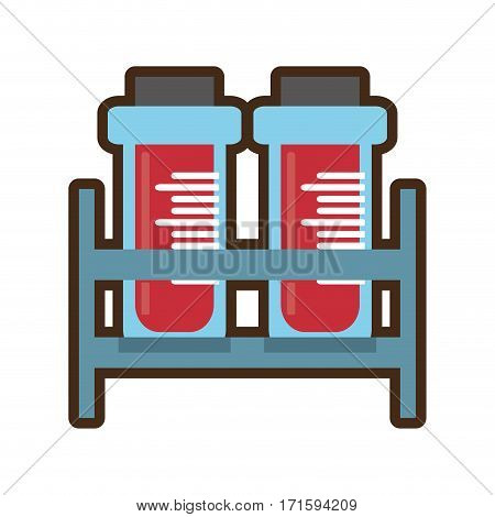 blood test tube donor rack cork vector illustration eps 10