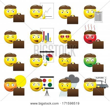 Business Man Emoticons