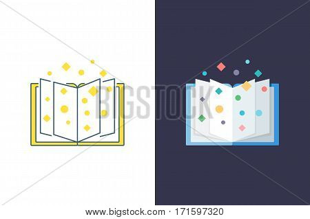 Book vector logo and flat style icon