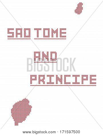 Sao Tome And Principe Africa Dot Map
