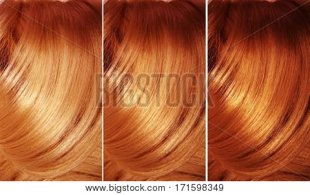 highlight hair texture abstract background fashion collage