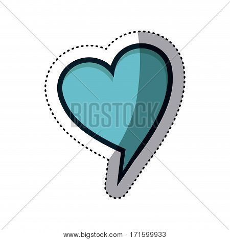 chat bubble heart icon stock image, vector illustration design