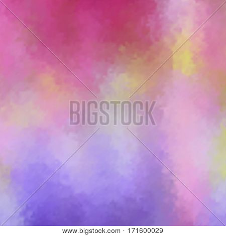 Abstract pink violet blur color gradient background for web, presentations and prints. Vector illustration. Wet glass effect.