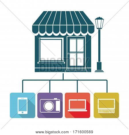 store online icon stock, vector illustration design