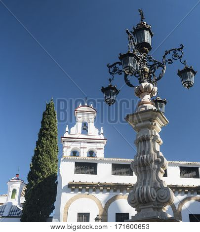 Sevilla (Andalucia Spain): street lamp in baroque style near the cathedral