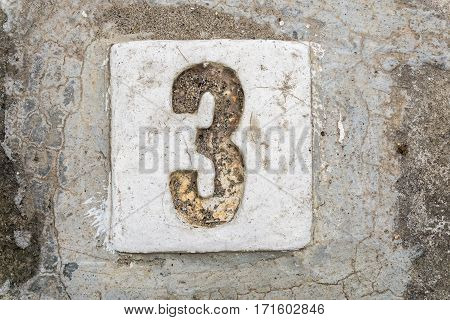 The Digits With Concrete On The Sidewalk 3