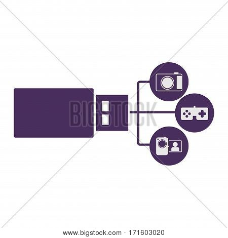 pen drive hosting data center icon image, vecctor illustration