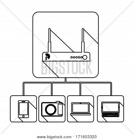 video beam server icon stock, vector illustration design