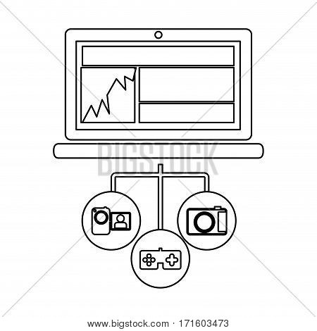 computer database server icon stock, vector illustration design