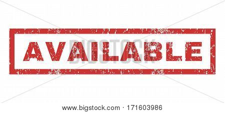 Available text rubber seal stamp watermark. Tag inside rectangular shape with grunge design and dirty texture. Horizontal vector red ink emblem on a white background.