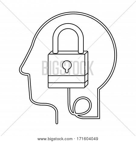 brain hosting data icon stock, vector illustration image desing