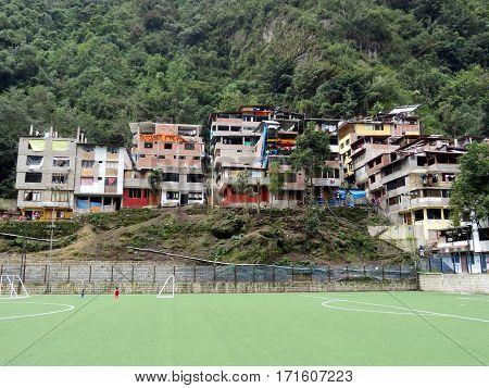 Houses in Aguas Calientes, the city near Macchu Piccu in Peru