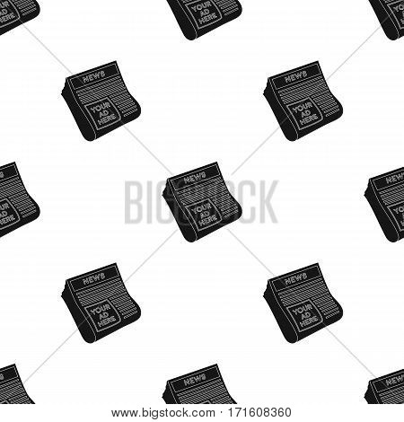 Classified ads in newspaper icon in black style isolated on white background. Advertising pattern vector illustration.