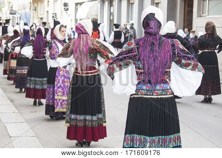 CAGLIARI, ITALY - May 1, 2013: 357 Religious Procession of Sant'Efisio - Sardinia - parade in traditional Sardinian costume