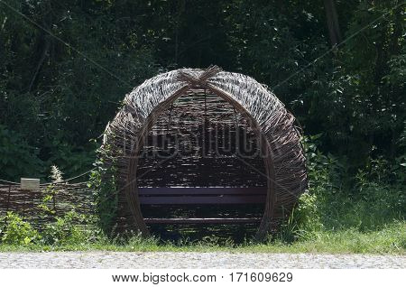 Wicker beach baskets chairs - old fashion
