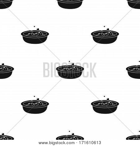 Baby bath icon in black style isolated on white background. Baby born pattern vector illustration.