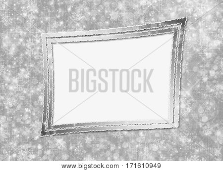 Abstract snowy background with snowflakes stars and fun confetti