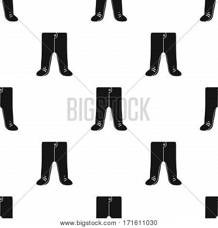 Baby romper icon in black style isolated on white background. Baby born pattern vector illustration.