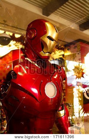 LOS ANGELES, USA - OCT 28, 2015: Iron Man in the Universal studios Hollywood.