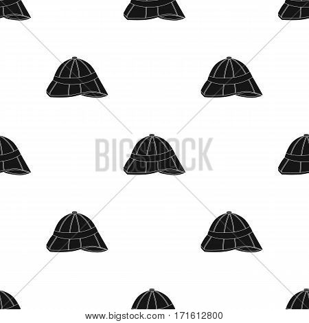 Pith helmet icon in black style isolated on white background. England country pattern vector illustration.