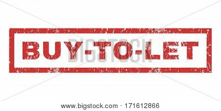 Buy-To-Let text rubber seal stamp watermark. Tag inside rectangular shape with grunge design and dirty texture. Horizontal vector red ink sign on a white background.