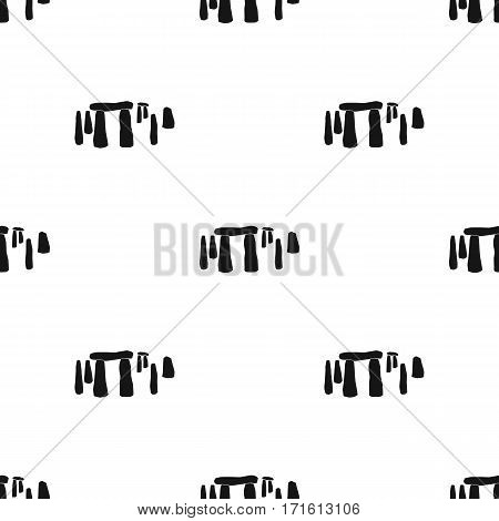 English stone monument icon in black style isolated on white background. England country pattern vector illustration.
