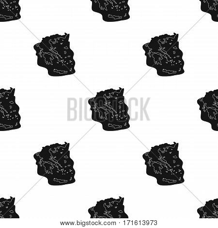 Greece territory icon in black style isolated on white background. Greece pattern vector illustration.