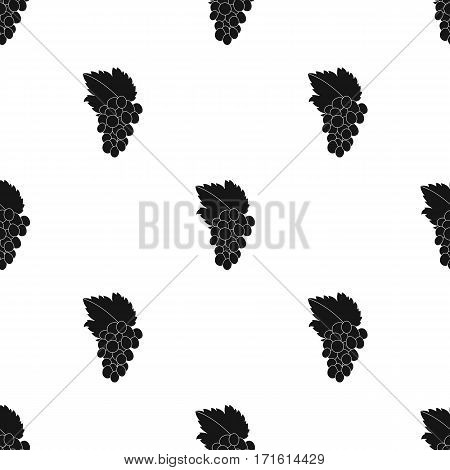 Bunch of grapes icon in black style isolated on white background. Greece pattern vector illustration.